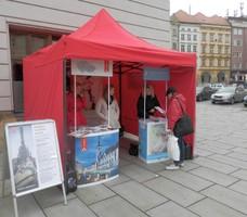 Stánek na olomouckém Horním náměstí